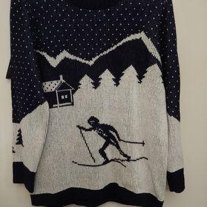 J Crew Factory ski intarsia sweater L